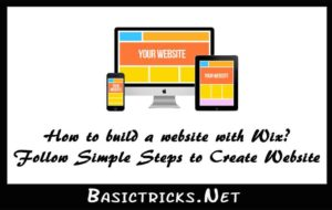 how to build a website with wix