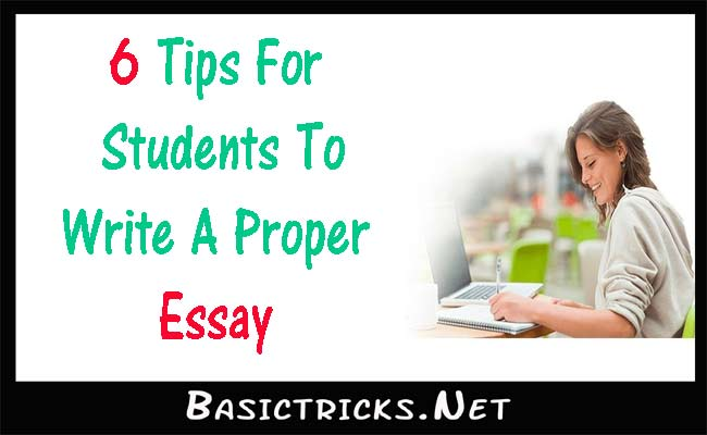 Help on writing an essay tips and tricks