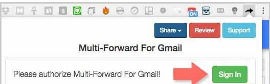 gmail how to forward multiple emails