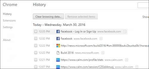 Clear Browsering History