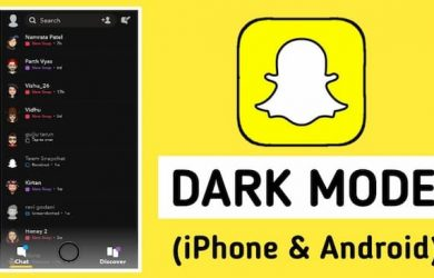how to get dark mode on snapchat