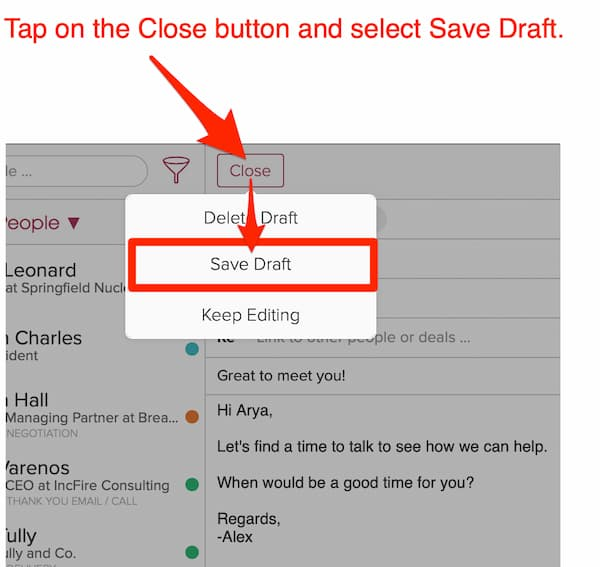 How Do I Save Email To Draft_